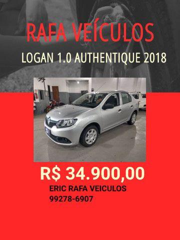 Logan 1.0 autentique 2018 R$ 34.900,00 - Eric Rafa Veículos