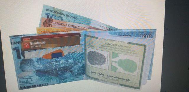 Carteiras cédula de dinheiro valor r$7,99 - Foto 2