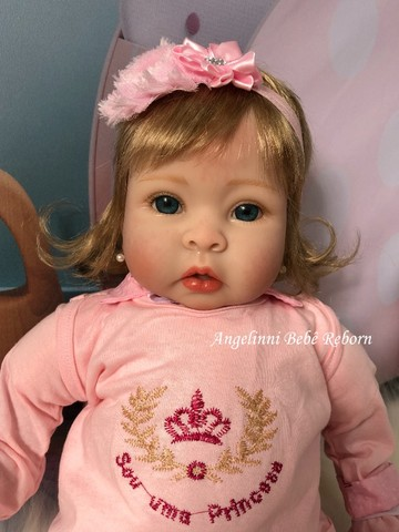 Bebê Reborn Mel - Pronta Entrega! Com enxoval e bolsa