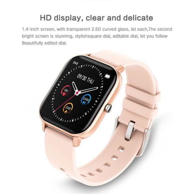 Fagger- * - - * -P8 Sports Smart Watch Fitness Heart Rate Smart Bracelet Touch-Screen IPX7 - Foto 6