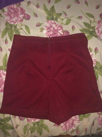 Short bengaline vermelho