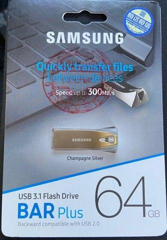 Pen Drive Samsung Bar Plus 64gb Usb 3.1 Flash Drive Original - Foto 3