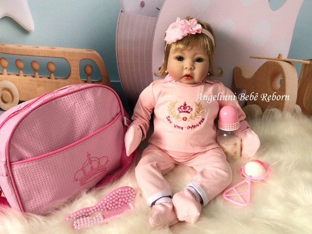 Bebê Reborn Mel - Pronta Entrega! Com enxoval e bolsa - Foto 2