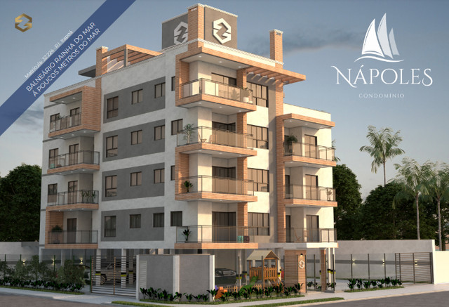 Apartamentos à 80 Metros da Praia! Lançamento Nápoles