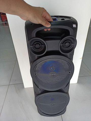 Caixa de Som Torre com Microfone Sem fio - Foto 3
