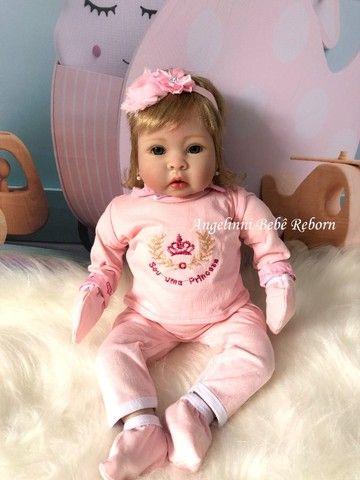 Bebê Reborn Mel - Pronta Entrega! Com enxoval e bolsa - Foto 3