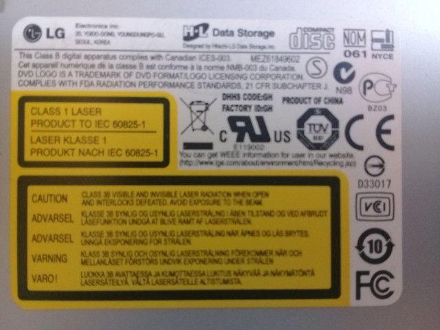 Drive de DVD sata, da marca LG para computador - Foto 3