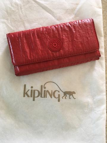 Carteira Brownie Vermelha Red Kipling original