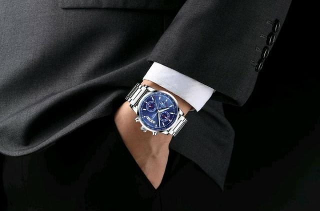1e0e3190404 Relógio Masculino Nibosi 2327 Original 30 Metros Azul - Bijouterias ...