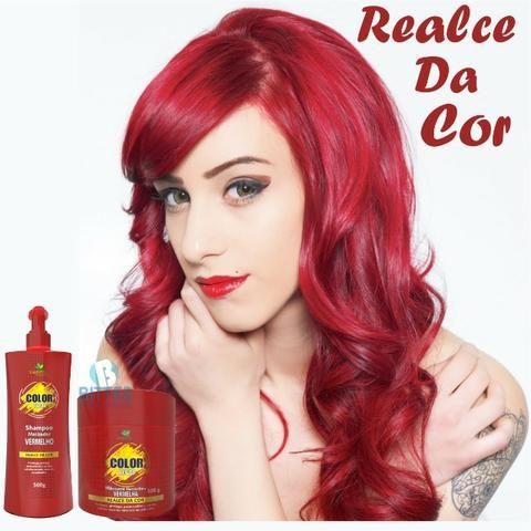 Red Color Matizador Vermelho 500 g o Kit Hábito Cosmeticos - Foto 4
