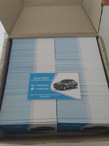 Caixa com 1.000 (Mil) Cartões de Visita Personalizado + Arte Gratuita