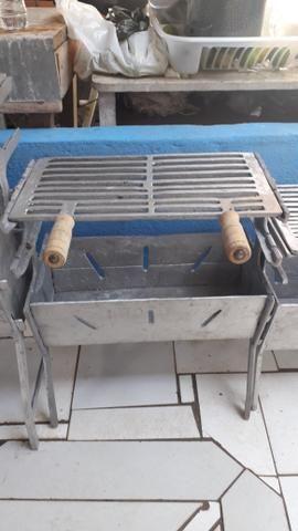 CHURRASQUEIRA MÉDIA alumínio batido - Foto 3