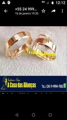 Alianças ouro 18 kilates / lindos modelos - Foto 3