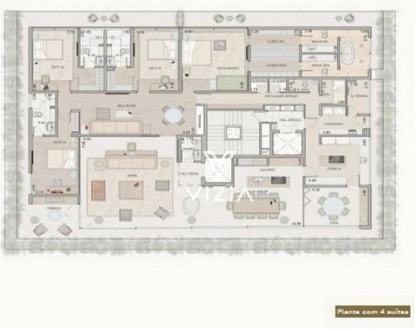 Apartamento com 4 dormitórios à venda, 459 m² por R$ 8.421.307,00 - Cabral - Curitiba/PR - Foto 20