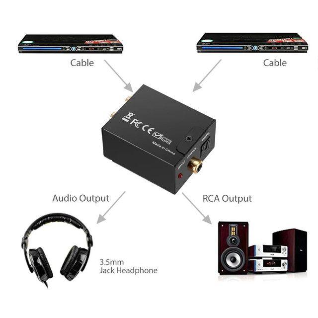 Converso de áudio, óptico para RCA - Foto 5