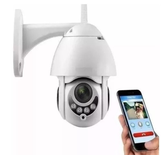 Câmera Ip Externa Wifi Dome Infra Prova D'água Icsee Hd 360º