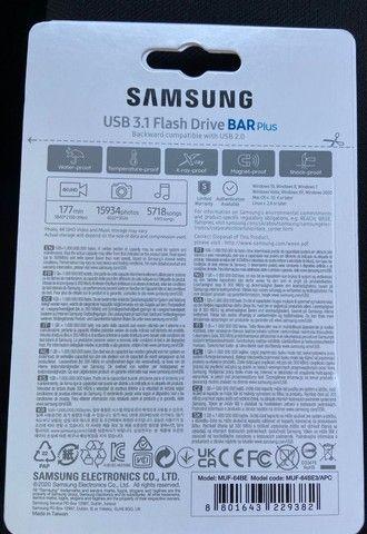 Pen Drive Samsung Bar Plus 64gb Usb 3.1 Flash Drive Original - Foto 2