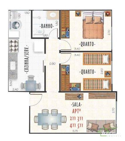 Apartamentos com 2 dormitórios à venda, a partir de R$ 219mil - Centro - Juiz de Fora/MG - Foto 3