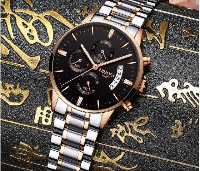 Relógio Nibosi Dourado 2309 - Foto 6