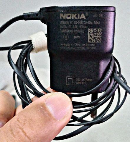 Carregador Original Nokia AC-15B Pino Fino Bivolt 110-220 V - Foto 4