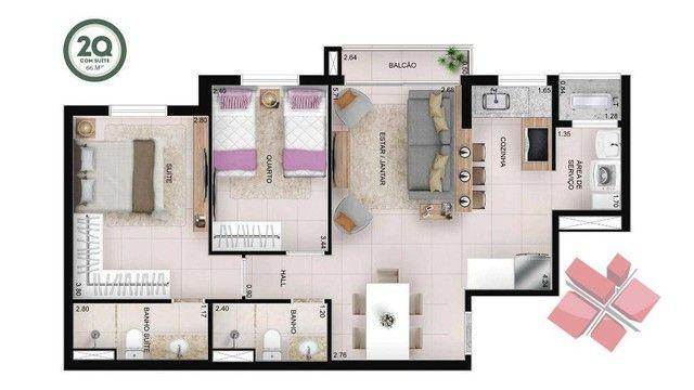 Apartamento com 2 dormitórios à venda, 69 m² por R$ 449.371,34 - Setor Oeste - Goiânia/GO - Foto 7