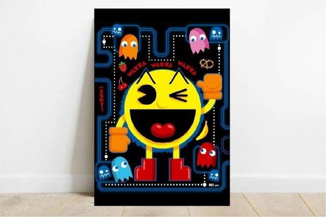 Quadro Decorativo MDF - Jogos Clássicos - Mario, Pac-Man, Mortal Kombat - Foto 4
