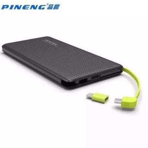 Pineng Original Carregador Portátil Power Bank Slim 10000 Com Selo - Mega Infotech