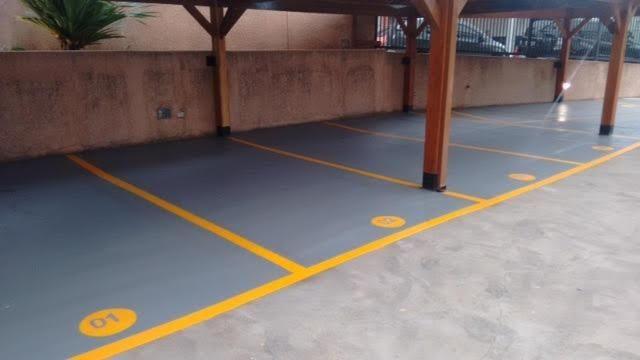 Pintura Vagas estacionamento, sinalização solo, pintura, demarcação solo, - Foto 2