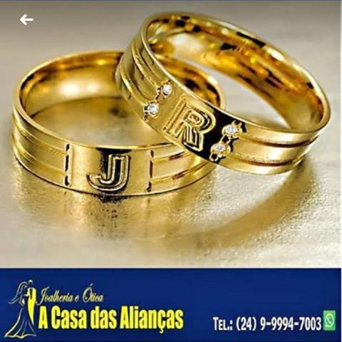 Alianças ouro 18 kilates / lindos modelos