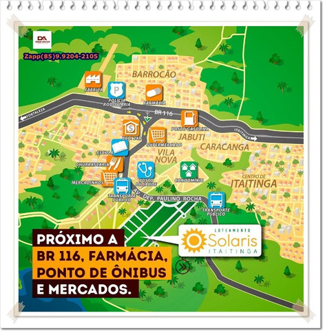Loteamento Solaris em Itaitinga( Invista- ligue )$@#@ - Foto 13