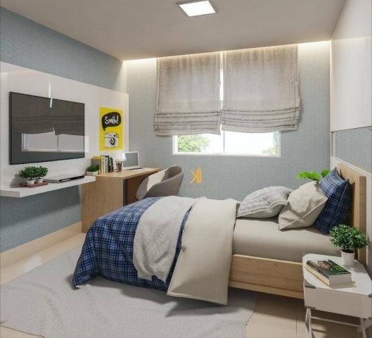 Apartamento com 2 dormitórios sendo 1 suíte à venda, 49 m² por R$ 152.500 - Centro - Euséb - Foto 9