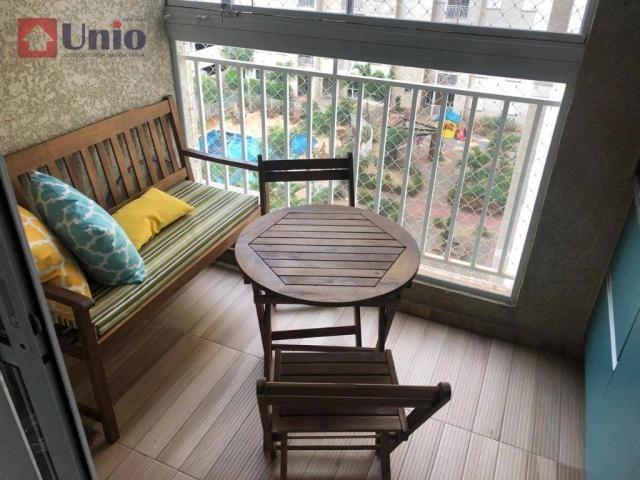 Apartamento com 3 dormitórios à venda, 68 m² por R$ 390.000 - Alto - Piracicaba/SP - Foto 9
