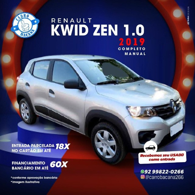 Renault Kwid zen 1.0 2018/2019