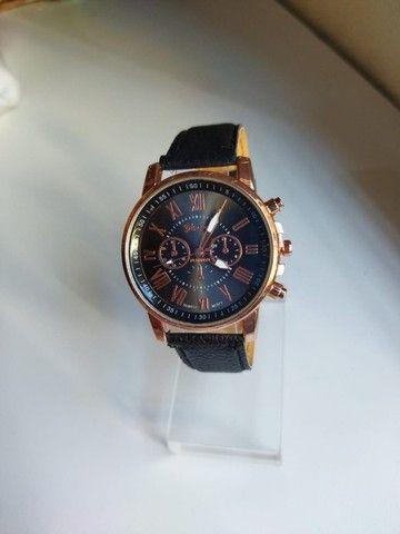 Relógio Feminino Geneva de Couro (Promoção) - Foto 4