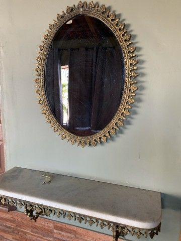 Aparador de parede colonial em bronze e marmore - Foto 3