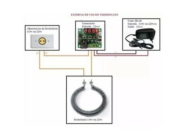 COD-AM35 Termostato Digital W1209 Chocadeira Controle De Temperatura - Foto 5
