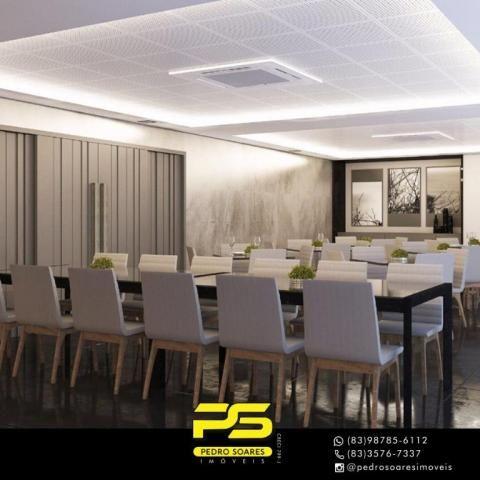 Apartamento com 2 dormitórios à venda, 60 m² por R$ 468.000 - Cabo Branco - João Pessoa/PB - Foto 13