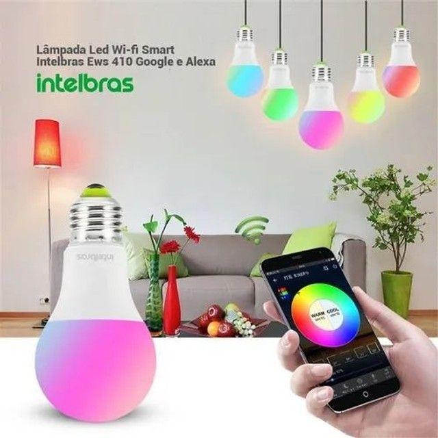 Lampada led wi-fi smart ews 407 - Intelbras Controle pelo app - Foto 4