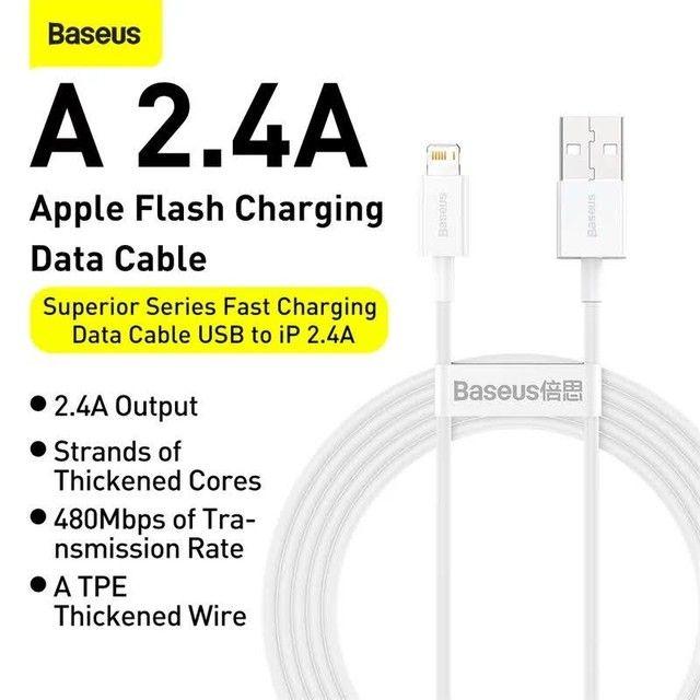 Cabo carregador original Baseus para iPhones USB A x Lightining - Foto 3