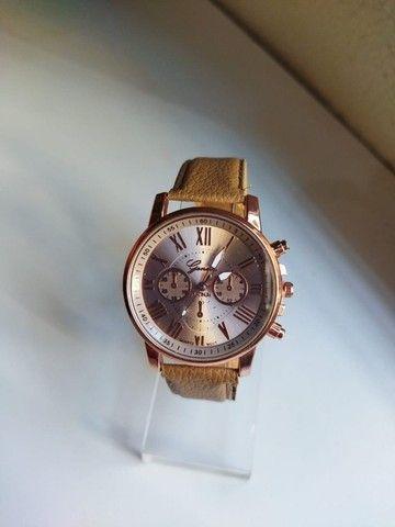 Relógio Feminino Geneva de Couro (Promoção) - Foto 2