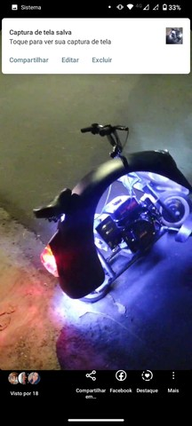 Fusca Branco reformado e motoneta - Foto 8
