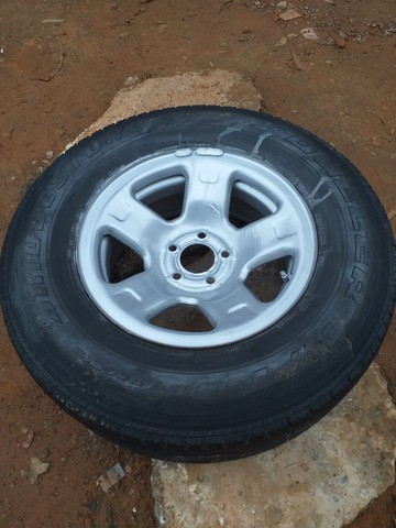 Step Roda da ranger 5 furo aro16 pneu meia vida  - Foto 2