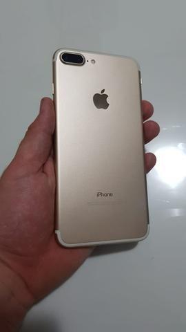 Iphone 7 plus 32gb gold impecavel