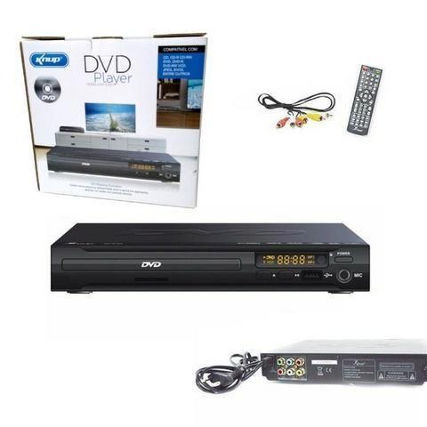 Aparelho DVD Player Rca 2.0 Canais USB Mp3 Cd Ripping Karaoke Knup Preto KP-D103 Bivolt - Foto 2