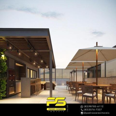 Apartamento com 2 dormitórios à venda, 60 m² por R$ 468.000 - Cabo Branco - João Pessoa/PB - Foto 3