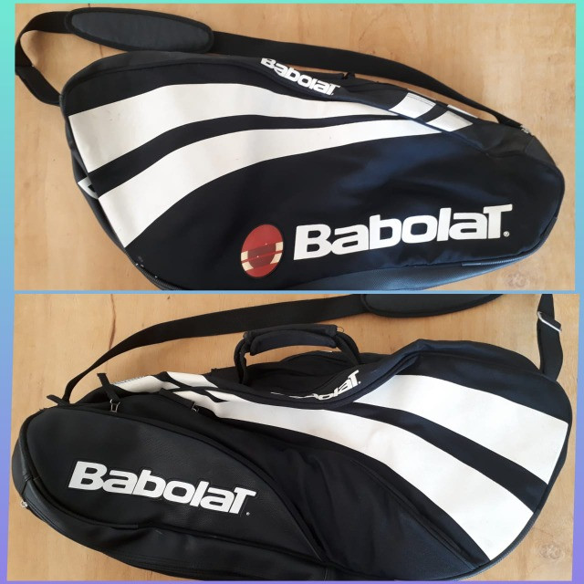 Raqueteira Babolat Semi Profissional- Semi nova - Cabe 5 raquetes + tênis + acessórios - Foto 3