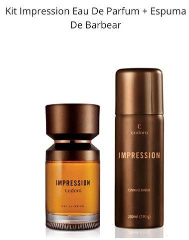 Kit Impression Eau De Parfum + Espuma De Barbear De Eudora Masculino Produto Novo