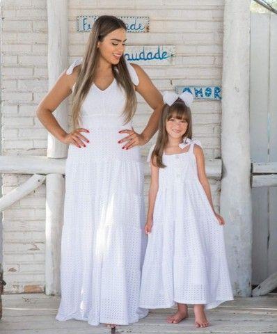 Vestido branco Tal mãe Tal filha (Branco)