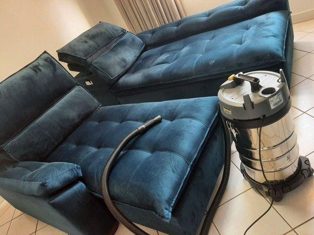 Higienização e lavagem  a seco de sofá em promoção  a partir 79.99 - Foto 5