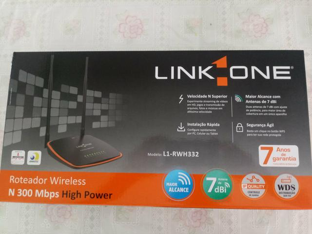 Roteador Link-One N 300 Mbps High Power L1-RWH332